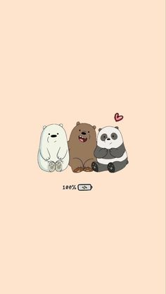 Cute Panda Wallpaper, Cute Pastel Wallpaper, Funny Phone Wallpaper, Cartoon Wallpaper Iphone, Bear Wallpaper, Iphone Background Wallpaper, Cute Disney Wallpaper, Kawaii Wallpaper, We Bare Bears Wallpapers