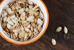 Roasted Pumpkin Seeds #seed #pumpkinseeds #roasted #salt #oliveoil #snack