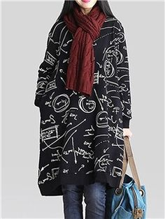 Ericdress Round Neck Loose Casual Dress