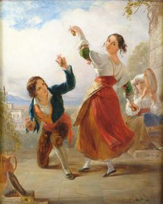 Young Couple Dancing With Castanets by Henry Woods, 1876 Henry Wood, Dance Paintings, Vintage Couples, Art Of Love, Shall We Dance, Amazing Paintings, Family Album, Young Couples, Dance Music