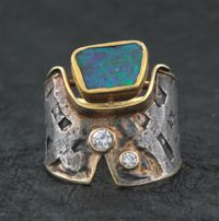Opal and Diamonds  Opal and diamonds set in 24k , 22k, 18k gold Marne Ryan Designs