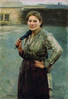 The Athenaeum - A Miner's Wife (Nikolai Alekseevich Kasatkin - )