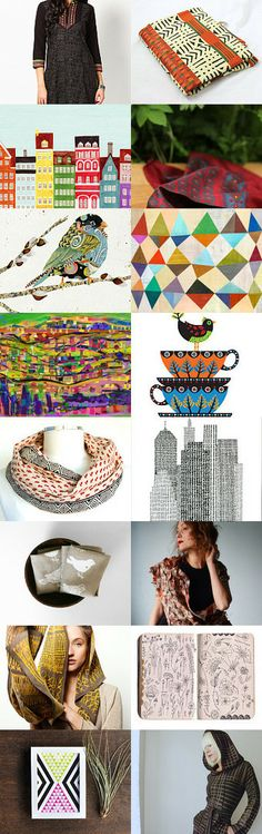 The world is a small colorful village by Hagar Arnon Elbaz Handmade, soft, earth loving jewelry on Etsy--Pinned with TreasuryPin.com