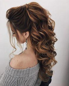 Half up half down pony with soft voluminous curls #avedaibw
