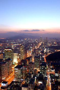 Teheran Ave in Gangnam-gu, Seoul, South Korea