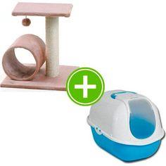 Arbre à #chat + maison de toilette à 26€95 (existe en 2 coloris) sur www.TiendAnimal.fr