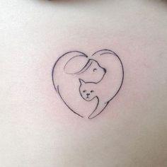 #camilonunes #cat #cattattoo #pet #pettattoo #dog #dogtattoo #heart #hearttattoo #linework #tattoo #Tattoos #tatuagem #think #thinkartclub