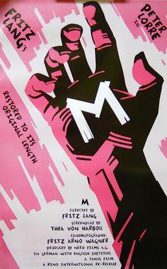 M (1931), Dir. Fritz Lang, American Re-Release Poster
