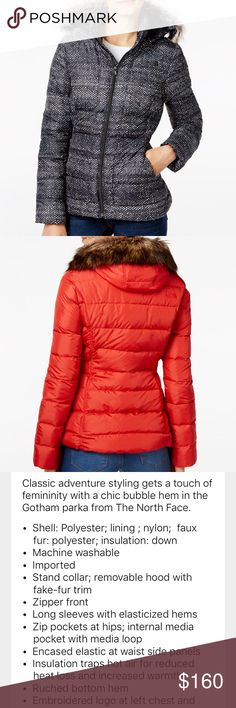 Nwt North Face down jacket with faux fur S/P Nwt North Face down jacket with removable hat and faux trim. Multi-color. Small petite The North Face Jackets & Coats Puffers
