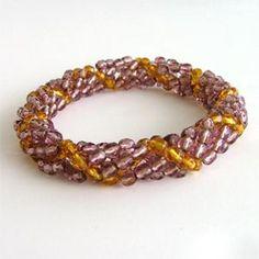 bracelet spirale améthyste de FRANCOIS PARENT