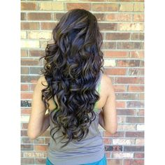 Top 10 Lovely Curly Long Hairstyles ❤ liked on Polyvore featuring beauty products, haircare, hair styling tools, hair, straightening iron, styling iron, flat iron, curly hair care and straight iron