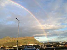 Clear rainbow from Regent road last night, beautiful