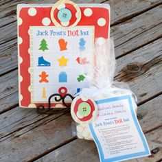 Cute printable Jack Frost's Not Lost game to play. Would be fun to do after watching the movie Jack Frost.
