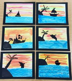 Art with Mr. Giannetto: 2nd Grade:Silhouettes