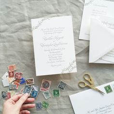 simple garland letterpress wedding invite | Smitten on Paper