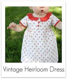 adorable vintage style dress tutorial
