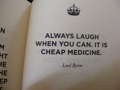Lord Byron on laughter