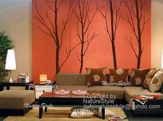 tree wall decal vinyl wall decor wall sticker by NatureStyle, $78.00