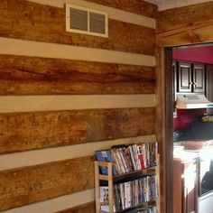 Check out this Did-it-myself project Fake Log Cabin Room Makeoever