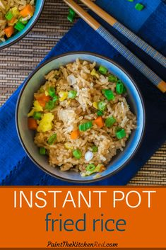 Quick and easy, this Instant Pot Fried Rice recipe calls for frozen vegetables, Jasmine rice, soy sauce, and ingredients you probably have on handand requires minimal prep work. Omit the oyster sauce and eggs to make it vegetarian or add some chicken or shrimp to make it a pressure cooker one-pot meal! #instantpot #friedrice #chinese #rice #asian via @paintkitchenred