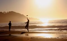 One summer, Sumner, Ashley, and Haven would go for walks every night and throw a Frisbee on the beach.