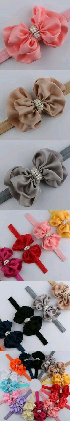 Discover thousands of images about Best Selling Baby Girls Headband Boutique Rhinestones Pearl Silk Bows Hairband Children Hair Accessories 2016 Bow Hairband, Diy Headband, Baby Girl Headbands, Baby Bows, Hair Ribbons, Diy Hair Bows, Diy Bow, Ribbon Art, Ribbon Crafts
