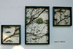 Birch Branch and bark Wall Hanging Triptych,Original Art, Rustic Art, Urban, Chic, Modern. via Etsy.
