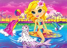 Lisa Frank! I never outgrew her stuff! Even in college I had her notebooks and pens!