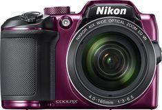Nikon - Coolpix B500 16.0-Megapixel Digital Camera - Plum (Purple), 26507