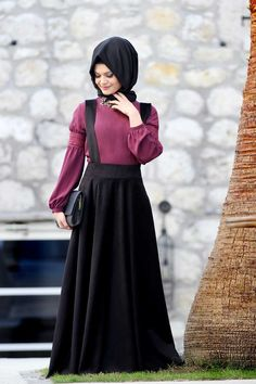 How to Carry Hijab with Stylish Abaya for Muslim Ladies – Girls Hijab Style & Hijab Fashion Ideas Abaya Fashion, Muslim Fashion, Modest Fashion, Skirt Fashion, Fashion Dresses, Modest Dresses, Modest Outfits, Dress Outfits, Hijab Trends