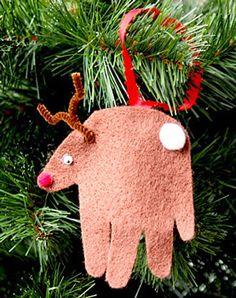 Tucking away this idea for Thanksgiving break...reindeer hand print ornament. One day those 8 and 6 year old hands will seem awfully small.