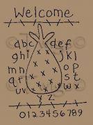 Primitive Pineapple Alphabet Stitchery E Pattern