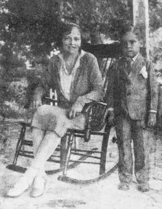 Teresa Villatoro and son Santiago. Known as the other woman that love Sandino.
