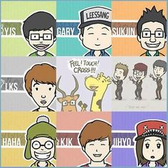 Fan Art of RM postcard for fans of Running Man (런닝맨).