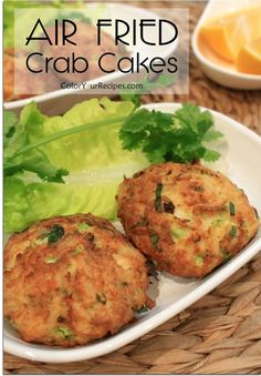 Simple and Easy Air Fryed Crab Cakes | Color Your Recipes