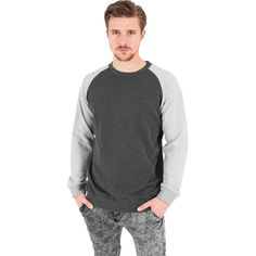 Inside Out Terry Crewneck Sweater in charcoal! #fashion #style #styling #sweater #pullover #terry #crewneck http://rudestylz.de/inside-out-crew.htm