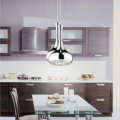 12w LED Droplight Vase Plating Silver Color Electroplated LED Pendant Lights AC85-265v – USD $ 59.99