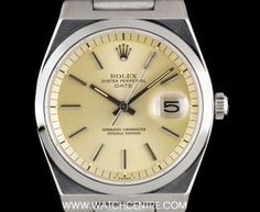 Rolex Steel Rare Date Vintage Oysterquartz Case & Bracelet. Mens Fashion Suits, Mens Suits, Oyster Perpetual Datejust, Rolex Datejust, Oysters, Gold Watch, Omega Watch, Rolex Watches, Dating