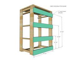 Ana white build a pallet laundry basket dresser by pallirondack free and ea