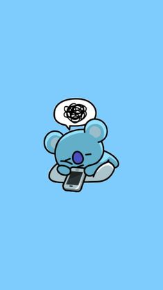 I don't listen kpops but I can't resist to this koala 🐨 me Kawaii Wallpaper, Wallpaper Iphone Cute, Mobile Wallpaper, Bts Wallpaper, Cute Wallpapers, Sapo Meme, Bts Backgrounds, Bts Drawings, Line Friends