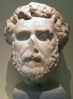 Marble portrait of the Roman emperor Antoninus Pius - 161 AD), Philippi Museum Antoninus Pius, Roman Emperor, Roman Art, Ancient Romans, Marble, Lion Sculpture, Museum, Statue, Portrait