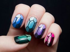 Gem nail art https://www.facebook.com/shorthaircutstyles/posts/1762374430719663