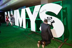 <p> Heineken set up a live art wall for guests to draw on with paint markers throughout the event.</p>