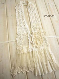 lace scarf with buttons: Very cool. Be neat to make out of your old wedding dress maybe? Very cute. I want one
