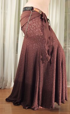 Mermaid skirt  YOUR SIZE  Brown lace flesh lining by creaturre, $85.00