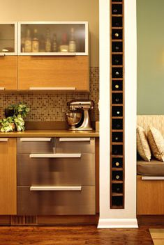 STYLEeGRACE ❤'s this wine storage wall! For the basement ?