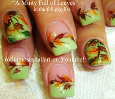 """Fall nail Art Playlist full of 51 Different """"nail art video"""" ideas is here: Fall Nail Art Playlist of Tutorials on Youtube"""