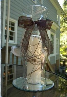 Hurricane Centerpieces For Weddings   Revision of centerpieces - PICS   Weddings,   Wedding Forums ...