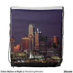 Dallas Skyline at Night Backpack
