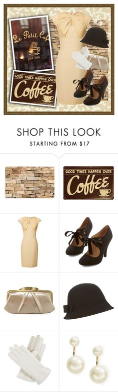 """""""Coffee Date"""" by rochellechristine ❤ liked on Polyvore featuring Waverly, Bungalow Flooring, Coffee Shop, Elie Saab, HOBO, Accessorize, Isotoner, Kate Spade and vintage"""
